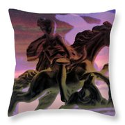 Hunt In The Clouds Throw Pillow