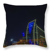 Hunt Oil And Museum Tower Throw Pillow