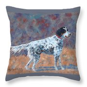 Hunter On Point Throw Pillow