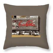 Hunter's Drug Store Coca-cola Mural Greensboro Georgia Marion Post Wolcott Fsa Spring 1939-2014  Throw Pillow