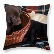 Hunters Puppy Dreams Throw Pillow