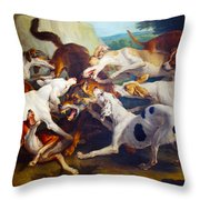 Hunting Dogs Detail Throw Pillow