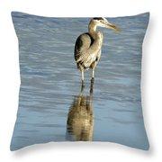 Hunting Great Blue Heron Throw Pillow