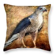 Hunting Hawk Throw Pillow