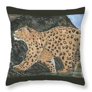 Hunting In The Hills Throw Pillow