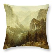 Hunting In Yosemite Throw Pillow