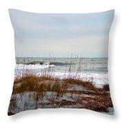 Hunting Island Beach Throw Pillow