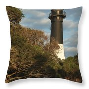 Hunting Island Lighthouse 1 Throw Pillow