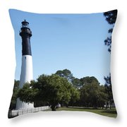 Hunting Island Lighthouse Sc Throw Pillow