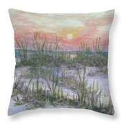 Hunting Island Sea Oats Throw Pillow