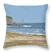 Hunting Island State Park Throw Pillow