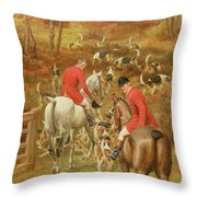Hunting Scene, 1906 Throw Pillow