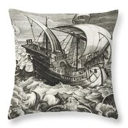 Hunting Sea Creatures Throw Pillow