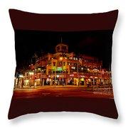 Huntington Beach Downtown Nightside 1 Throw Pillow