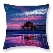 Huntington Pier - 2 Throw Pillow