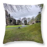 Huntly Castle - 4 Throw Pillow