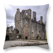 Huntly Castle - 5 Throw Pillow