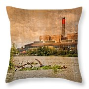 Huntly Power Station Throw Pillow