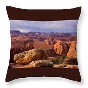 Hunts Mesa Arizona Throw Pillow