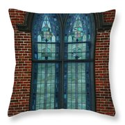 Stained Glass Arch Window Throw Pillow
