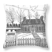 Hurley Historical Society Throw Pillow