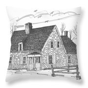 Hurley Stone House Throw Pillow