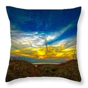Huron Evening 2 Oil Throw Pillow