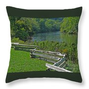 Huron River Bend Throw Pillow