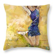 Hurrah Throw Pillow by Karen Ahuja