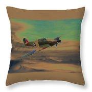 Hurricane Fighter Plane 2 Throw Pillow
