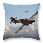 Hurricane - Fighter Sweep Throw Pillow