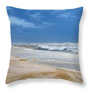 Hurricane Isaac Impacts Navarre Beach Throw Pillow