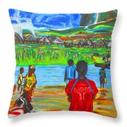 Hurry Up There - Ryan Giggs Tribute Throw Pillow