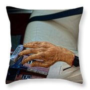 Hurst Shifter And Hand Brake Throw Pillow