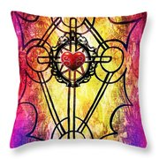 Hurting Heart Throw Pillow