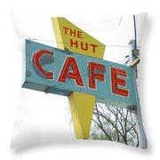 Hut Cafe Throw Pillow