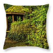 Hut In The Forest Throw Pillow