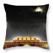 Hutto Hippo Stadium Throw Pillow