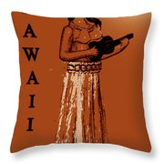 Travel To The Aloha State Throw Pillow
