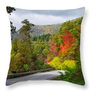 Hwy 281 In The Fall  Throw Pillow
