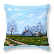 Hwy 302 Farm Throw Pillow