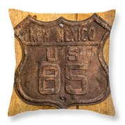 Hwy 85 Nm Sign Throw Pillow