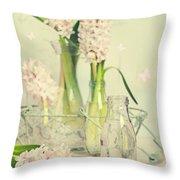 Hyacinth Arrangement Throw Pillow