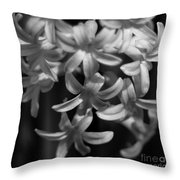 Hyacinth In Black And White Throw Pillow