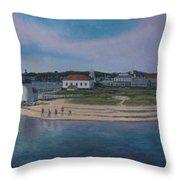 Brant Point Beach, Nantucket, Ma Throw Pillow