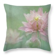 Hybrid Columbine Throw Pillow