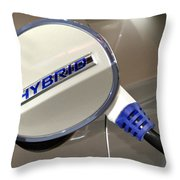 Hybrid Vehicle Recharge Throw Pillow
