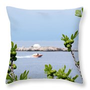 Hydra Island During Springtime Throw Pillow