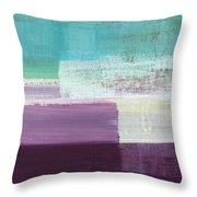 Hydrangea- Abstract Painting Throw Pillow