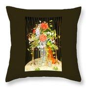 Hydrangea Centerpiece Artistic Throw Pillow